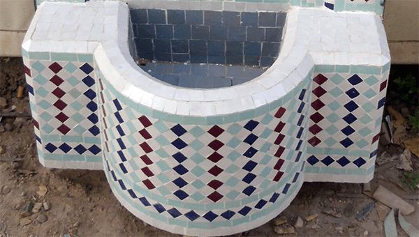 نافورة الزليج البلدي المغربي