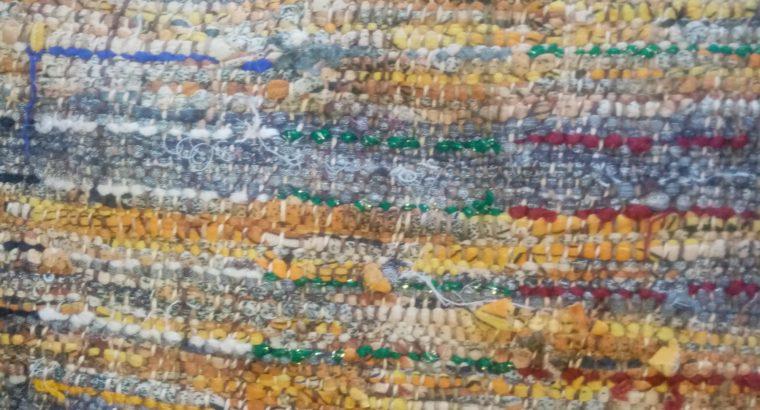 زربية تقليدية مصنوعة من القماش